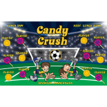 Candy Crush Vinyl Soccer Banner E-Z Order
