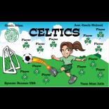 Celtics Vinyl Soccer Banner E-Z Order