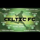Celtic FC Fabric Soccer Banner E-Z Order