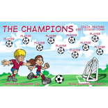 Champions Fabric Soccer Banner E-Z Order