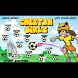 Cheetah Girlz Vinyl Soccer Banner E-Z Order