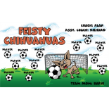 Chihuahuas Feisty Fabric Soccer Banner E-Z Order