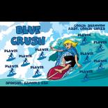 Crush Blue Fabric Soccer Banner - E-Z Order
