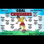 Crushers Goal Vinyl Soccer Banner E-Z Order