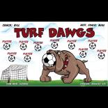 Dawgs Turf Vinyl Soccer Banner - E-Z Order