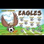 Eagles Vinyl Soccer Banner - E-Z Order