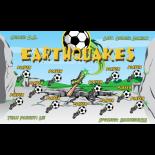 Earthquakes Vinyl Soccer Banner - E-Z Order