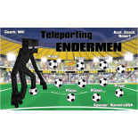Endermen Teleporting Fabric Soccer Banner E-Z Order