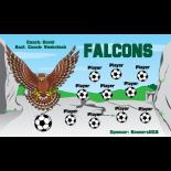 Falcons Vinyl Soccer Banner - E-Z Order