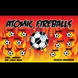 Fireballs Atomic Vinyl Soccer Banner - E-Z Order