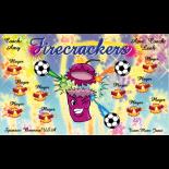 Firecrackers Vinyl Soccer Banner - E-Z Order