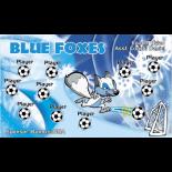 Foxes Blue Vinyl Soccer Banner E-Z Order