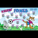 Foxes Kickin Vinyl Soccer Banner E-Z Order