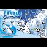 Frozen Crushers Vinyl Soccer Banner - E-Z Order