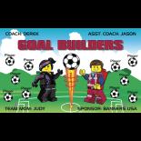 Goal Builders Fabric Soccer Banner E-Z Order