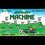 Green Machine Vinyl Soccer Banner - E-Z Order