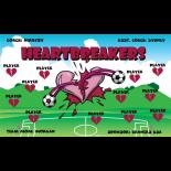 Heartbreakers Fabric Soccer Banner - E-Z Order