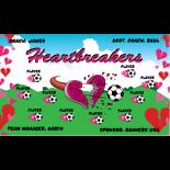 Heartbreakers Vinyl Soccer Banner - E-Z Order