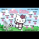 Hello Kitties Vinyl Soccer Banner - E-Z Order