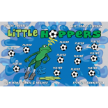 Hoppers Little Fabric Soccer Banner - E-Z Order