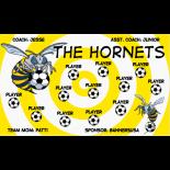 Hornets Fabric Soccer Banner - E-Z Order