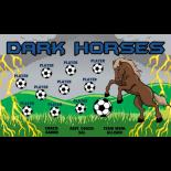 Horses Dark Vinyl Soccer Banner E-Z Order