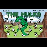 Hulks Vinyl Soccer Banner - E-Z Order