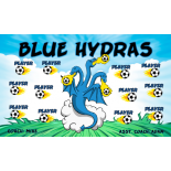 Hydras Blue Vinyl Soccer Banner - E-Z Order