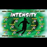 Intensity Fabric Soccer Banner - E-Z Order