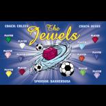 Jewels Vinyl Soccer Banner - E-Z Order