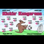 Kangaroos Kicking Vinyl Soccer Banner - E-Z Order