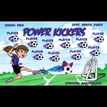 Kickers Power Vinyl Soccer Banner - E-Z Order