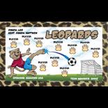 Leopards Vinyl Soccer Banner - E-Z Order