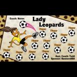 Leopards Lady Vinyl Soccer Banner - E-Z Order