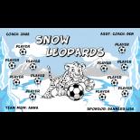 Leopards Snow Vinyl Soccer Banner - E-Z Order