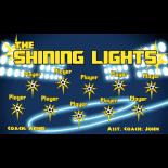 Lights Shining Fabric Soccer Banner - E-Z Order