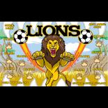 Lions Fabric Soccer Banner - E-Z Order
