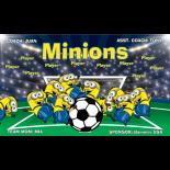 Minions Vinyl Soccer Banner - E-Z Order