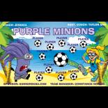 Minions Purple Fabric Soccer Banner - E-Z Order