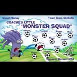 Monster Squad Fabric Soccer Banner - E-Z Order