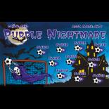 Nightmares Purple Vinyl Soccer Banner - E-Z Order