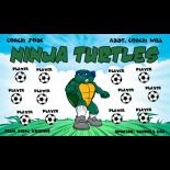 Ninja Turtles Fabric Soccer Banner - E-Z Order
