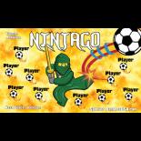 Ninjago Vinyl Soccer Banner - E-Z Order