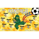 Ninjago Fabric Soccer Banner - E-Z Order