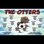 Otters Fabric Soccer Banner E-Z Order