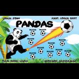 Pandas Vinyl Soccer Banner E-Z Order