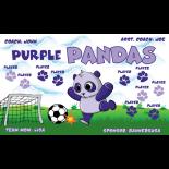 Pandas Purple Vinyl Soccer Banner - E-Z Order