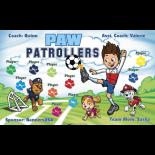 Paw Patrollers Vinyl Soccer Banner - E-Z Order