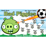 Piggies Bad Vinyl Soccer Banner - E-Z Order