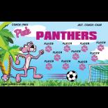 Pink Panthers Vinyl Soccer Banner - E-Z Order